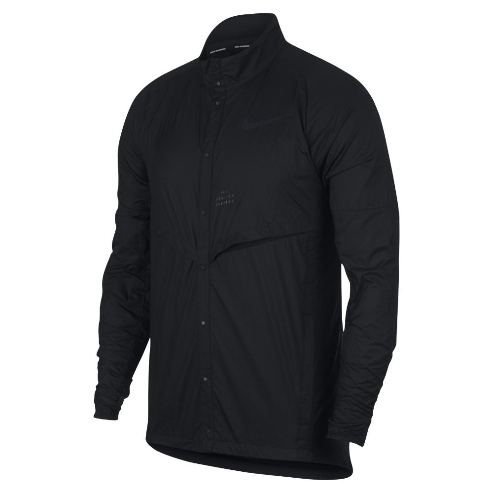 1bed5dc3379d01 Lyst - Nike Run Division Men s Running Jacket in Black for Men