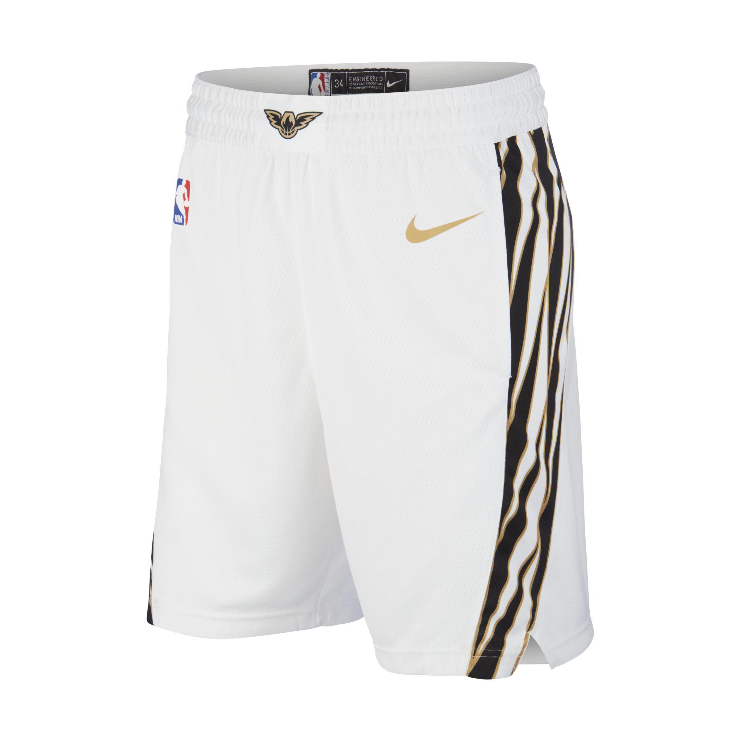 f565b93b353 Nike Atlanta Hawks City Edition Swingman Nba Shorts in White for Men ...