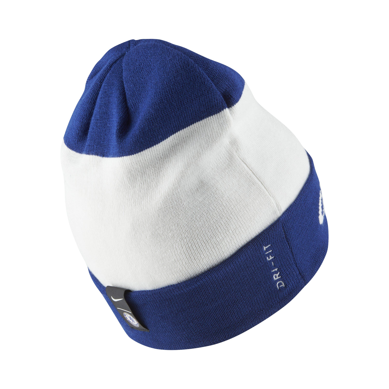 297452e0a42 Nike - White Chelsea Fc Beanie for Men - Lyst. View fullscreen