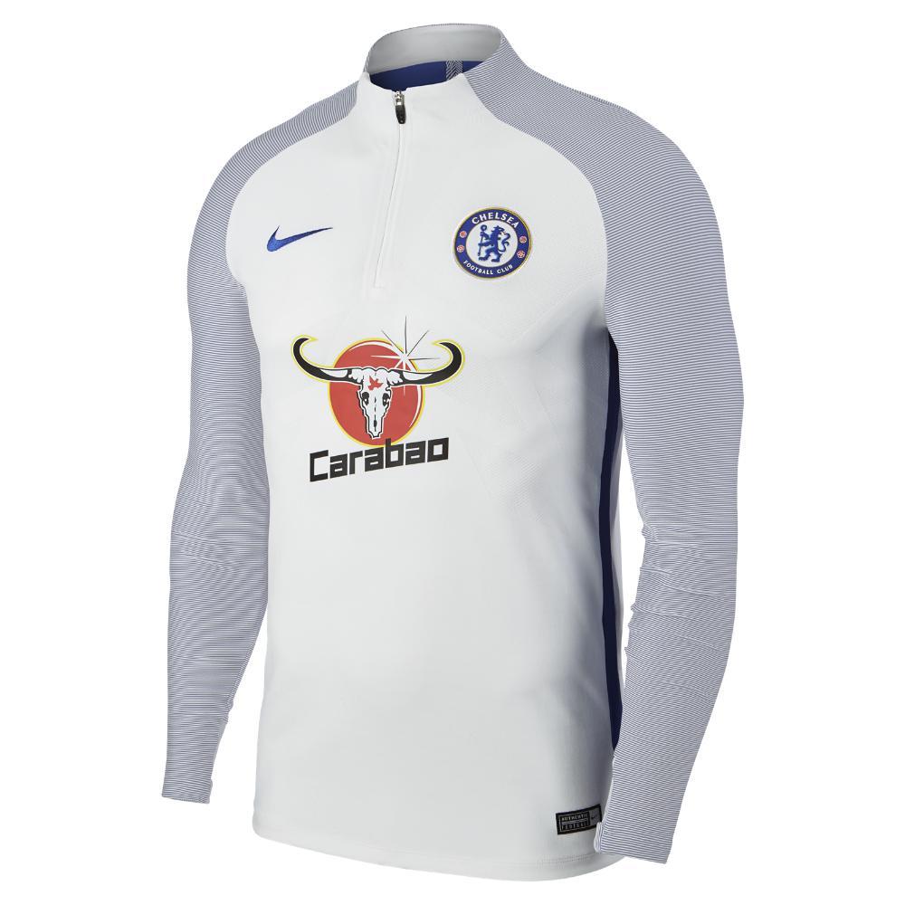 3358e79a4 Nike Chelsea Fc Aeroswift Strike Drill Men s Soccer Top in Blue for ...