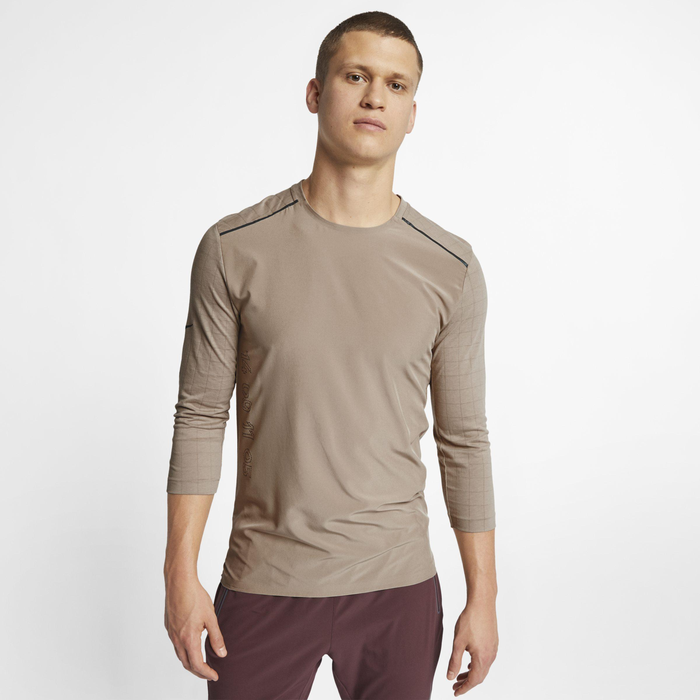 6dc661f30b Nike Rise 365 3 4-sleeve Running Top for Men - Lyst