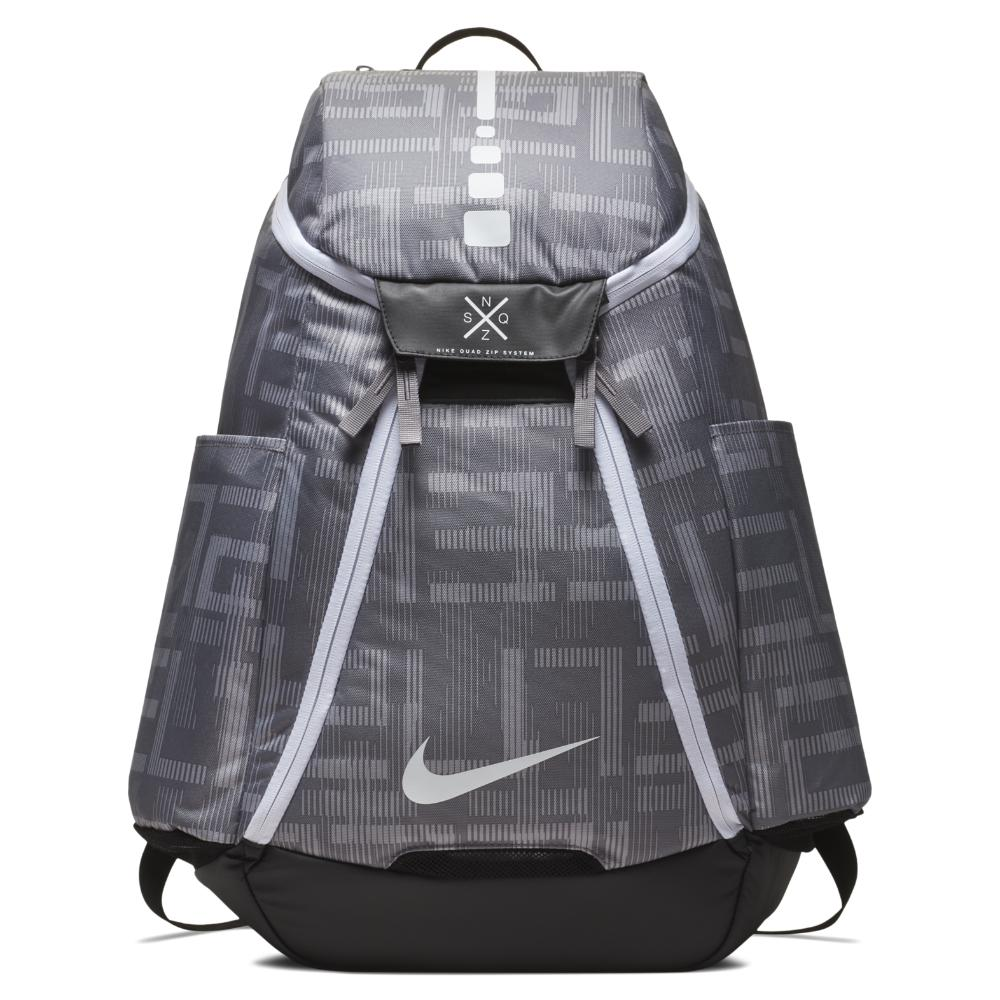 3a6fd6ba29 Nike. Men s Gray Hoops Elite Max Air Team 2.0 Graphic Basketball Backpack  ...