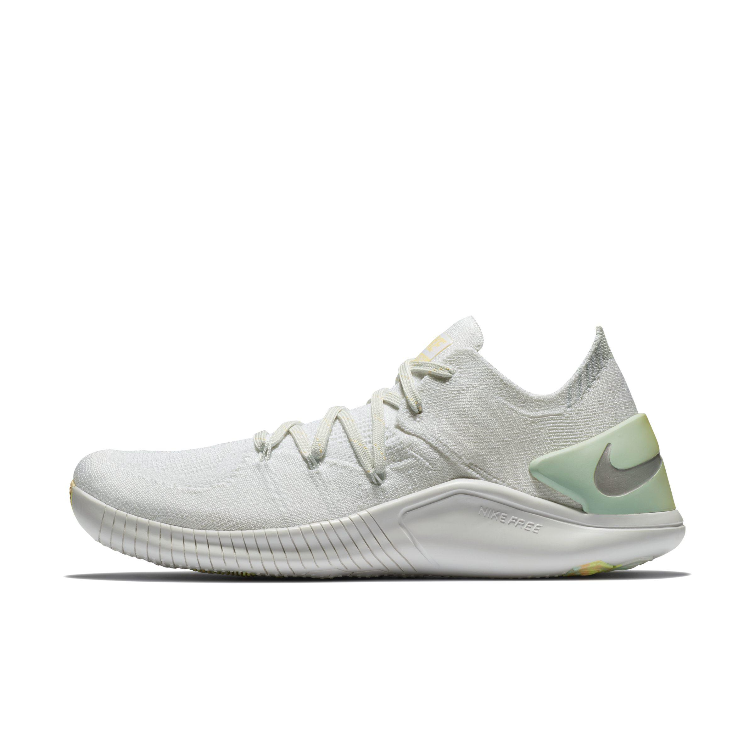 d09bffab0b007 Nike Free Tr Flyknit 3 Rise Training Shoe in White - Lyst