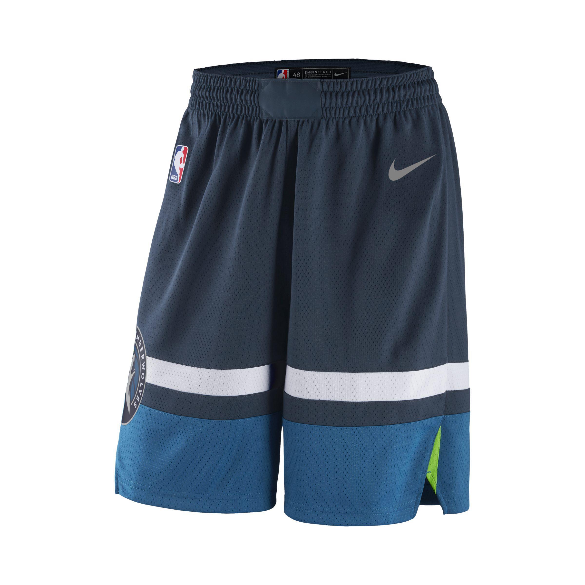8850358d7d9 Nike Minnesota Timberwolves Icon Edition Swingman Nba Shorts in Blue ...
