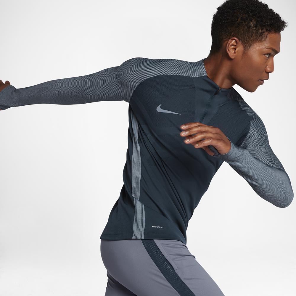3c28dab4a Lyst - Nike Aeroswift Strike Drill Men's Soccer Top in Blue for Men