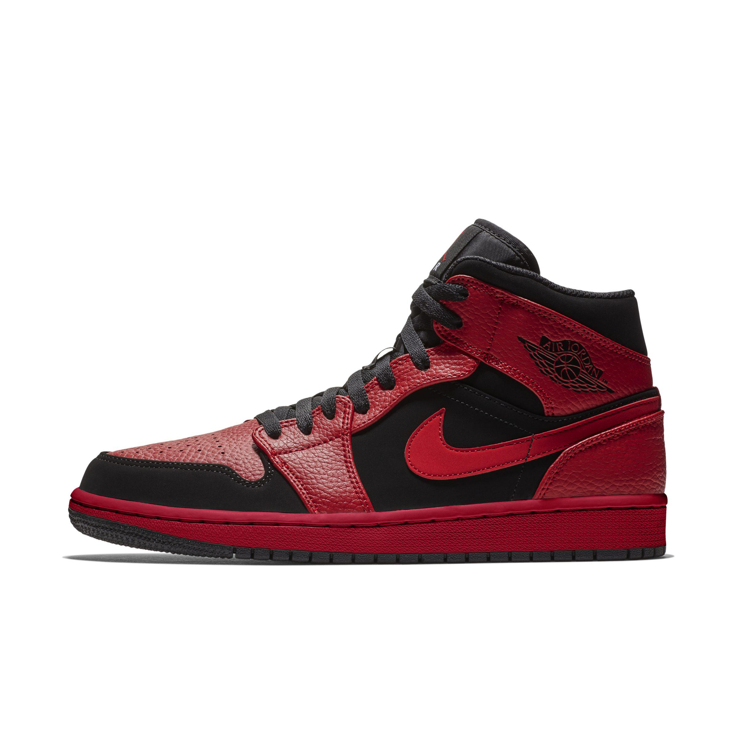 official photos 311f1 7340a Nike - Black Air Jordan 1 Mid Shoe for Men - Lyst. View fullscreen