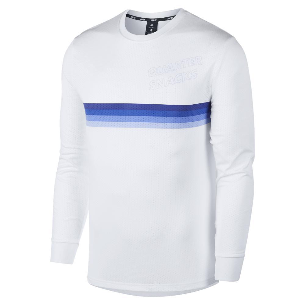 e0e5416a6 Nike. White Sb X Quartersnacks Dri-fit Men's Long-sleeve Skateboarding Top
