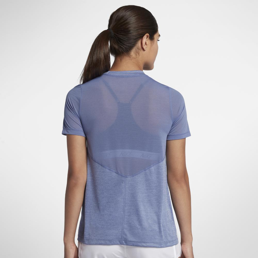 3e8fa1c6 Lyst - Nike Dri-fit Miler Women's Short Sleeve Running Top in Purple