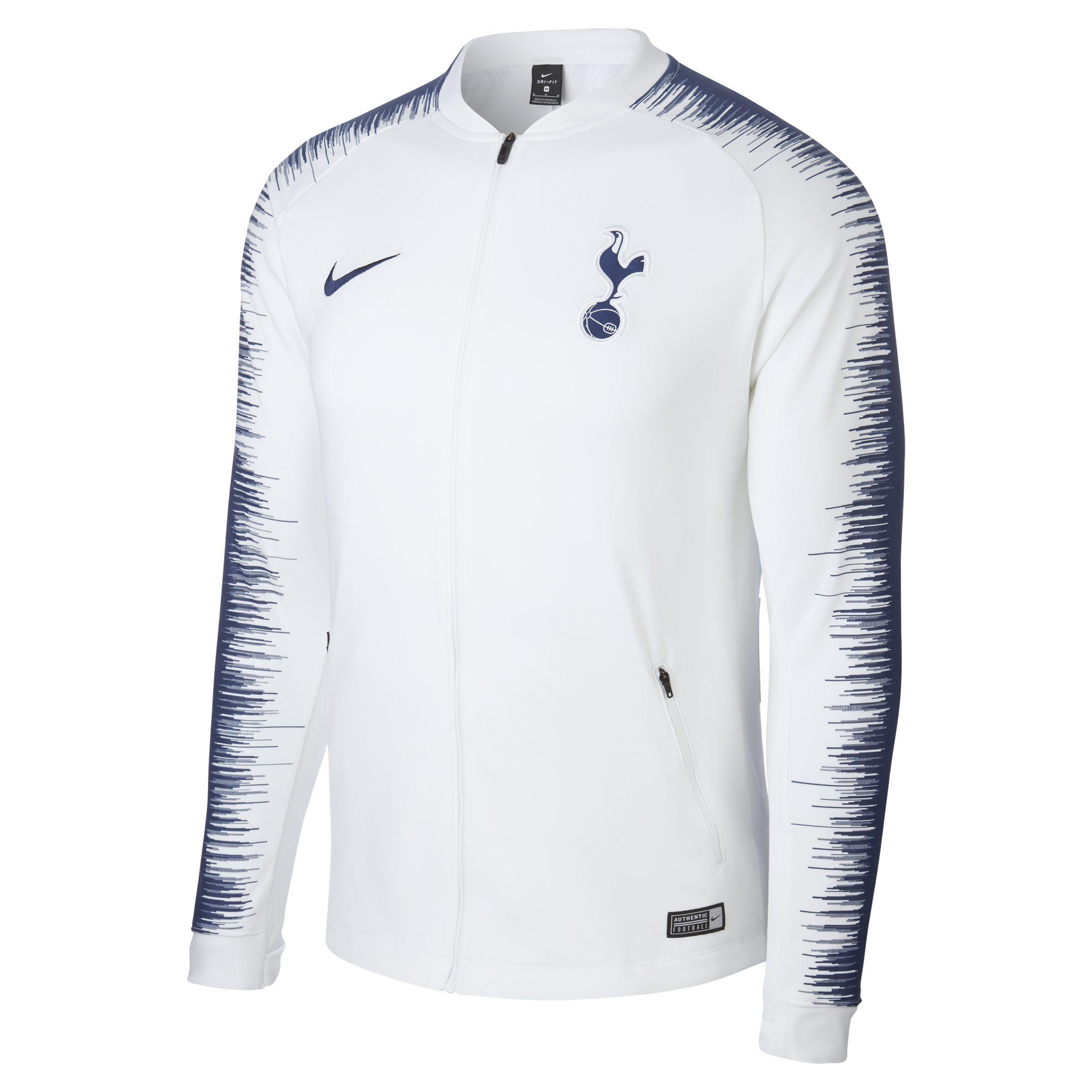 7e895dc89 Nike Tottenham Hotspur Anthem Football Jacket in White for Men - Lyst