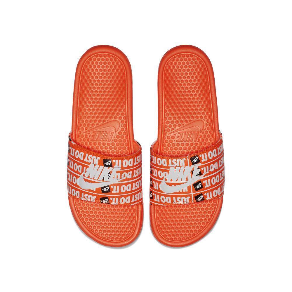 Lyst - Nike Benassi Just Do It Print Men s Slide Sandal in Orange ... 16ce4918a