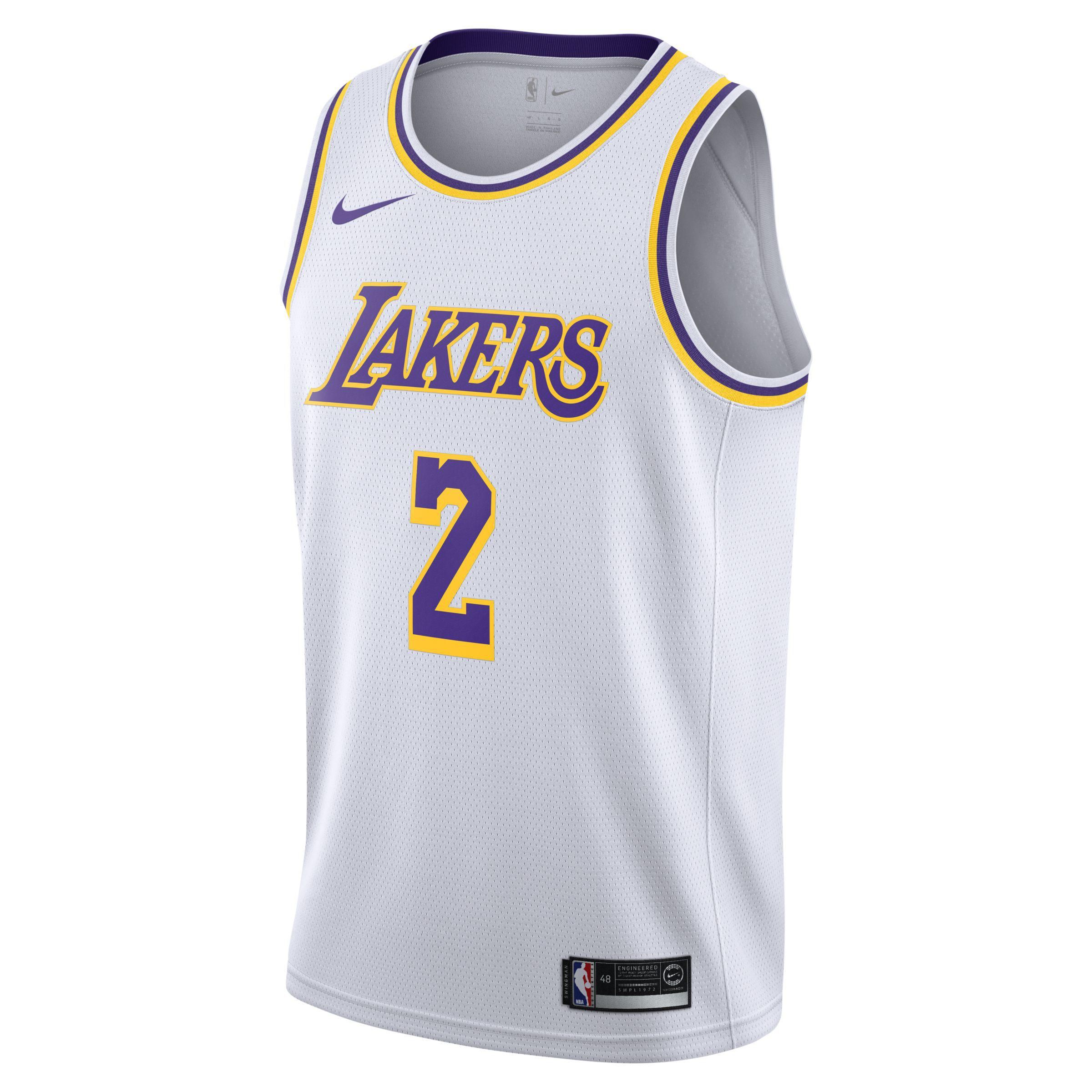 829612a725c Nike. Men s White Lonzo Ball Association Edition Swingman (los Angeles  Lakers) Nba Connected Jersey