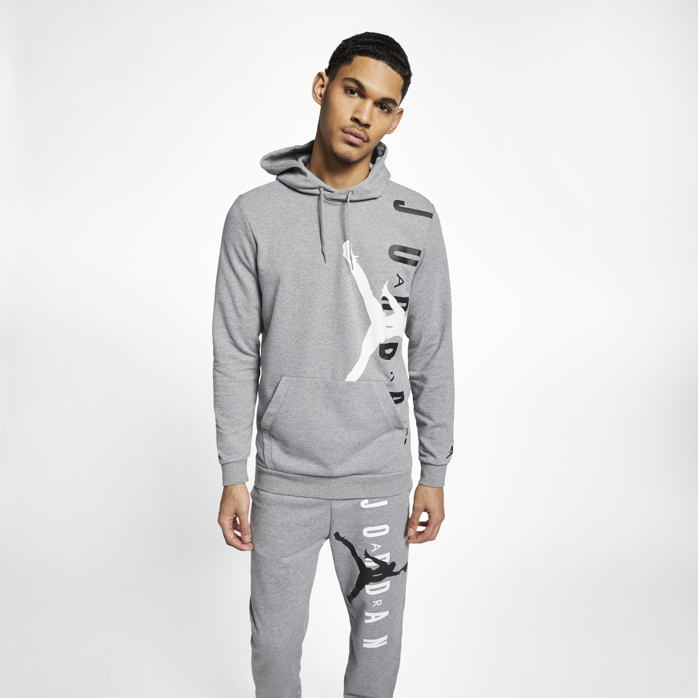 794fa52183ccdf Nike Jordan Jumpman Air Lightweight Fleece Sweatshirt in Gray for ...