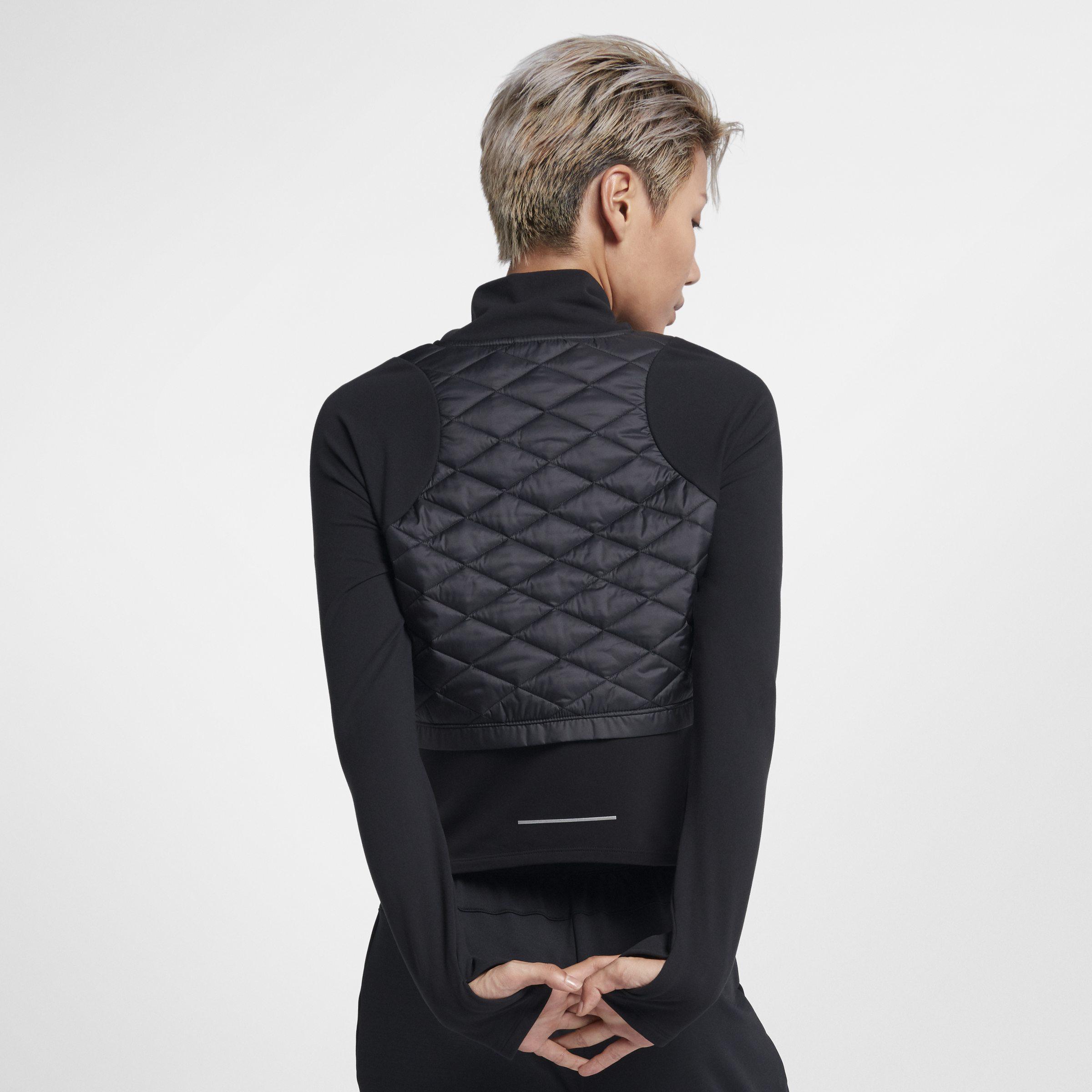 Lyst De Noir Coloris Femme En Nike Veste Running Aerolayer Pour w1rwqBf