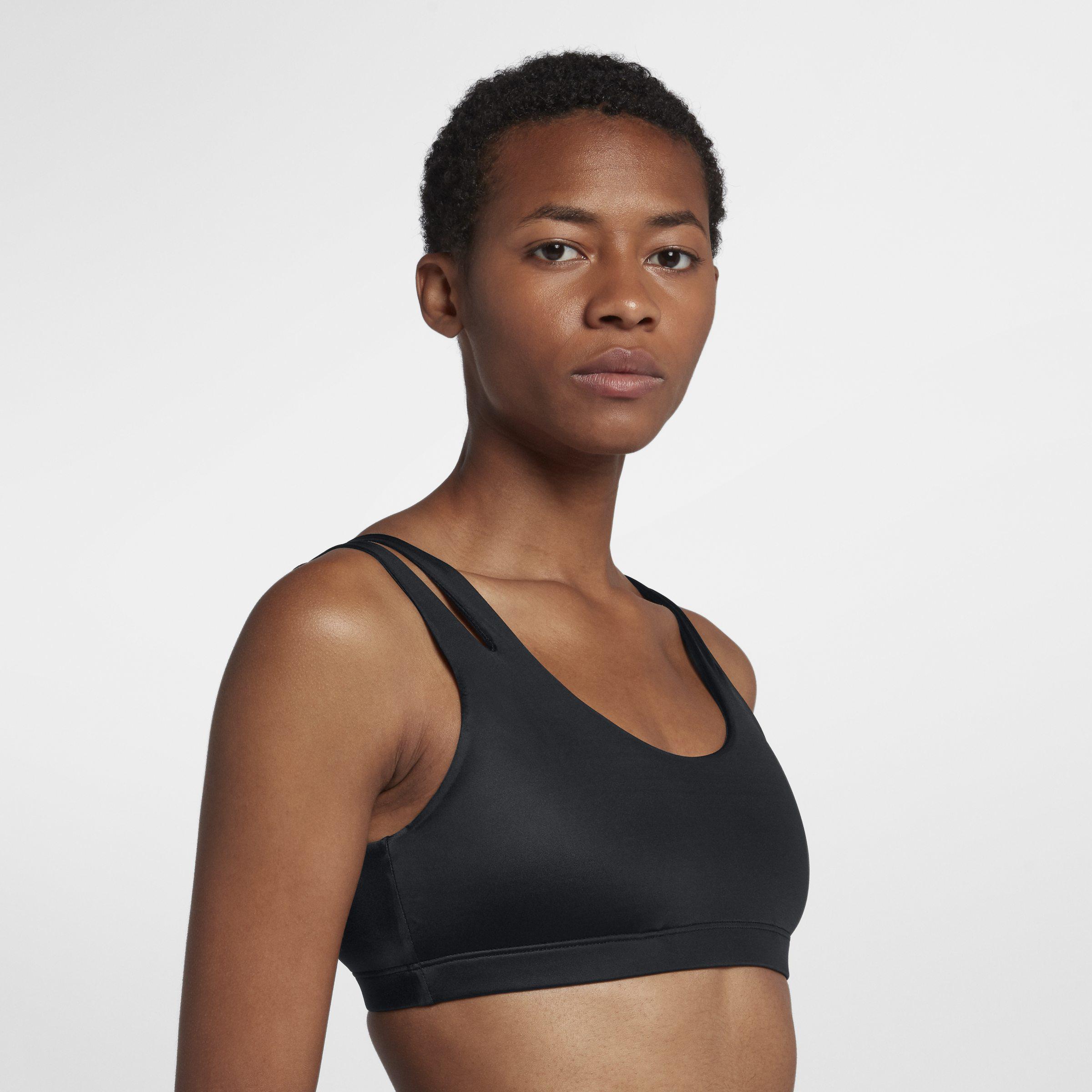 7259b7cd422f Nike Indy Shine Light-support Sports Bra in Black - Lyst