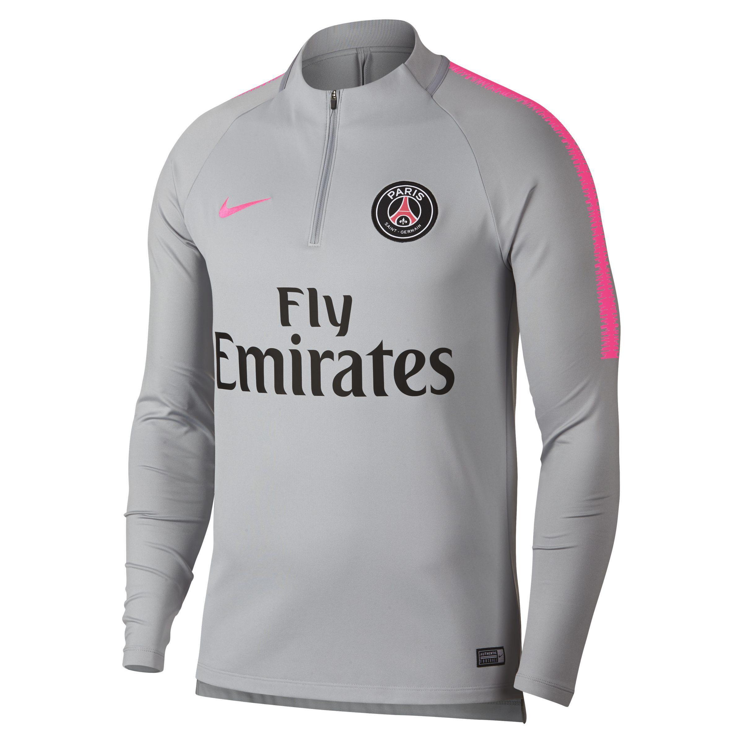 323d4e4d8 Nike Paris Saintgermain Drifit Squad Drill Men s Sweatshirt In Grey ...