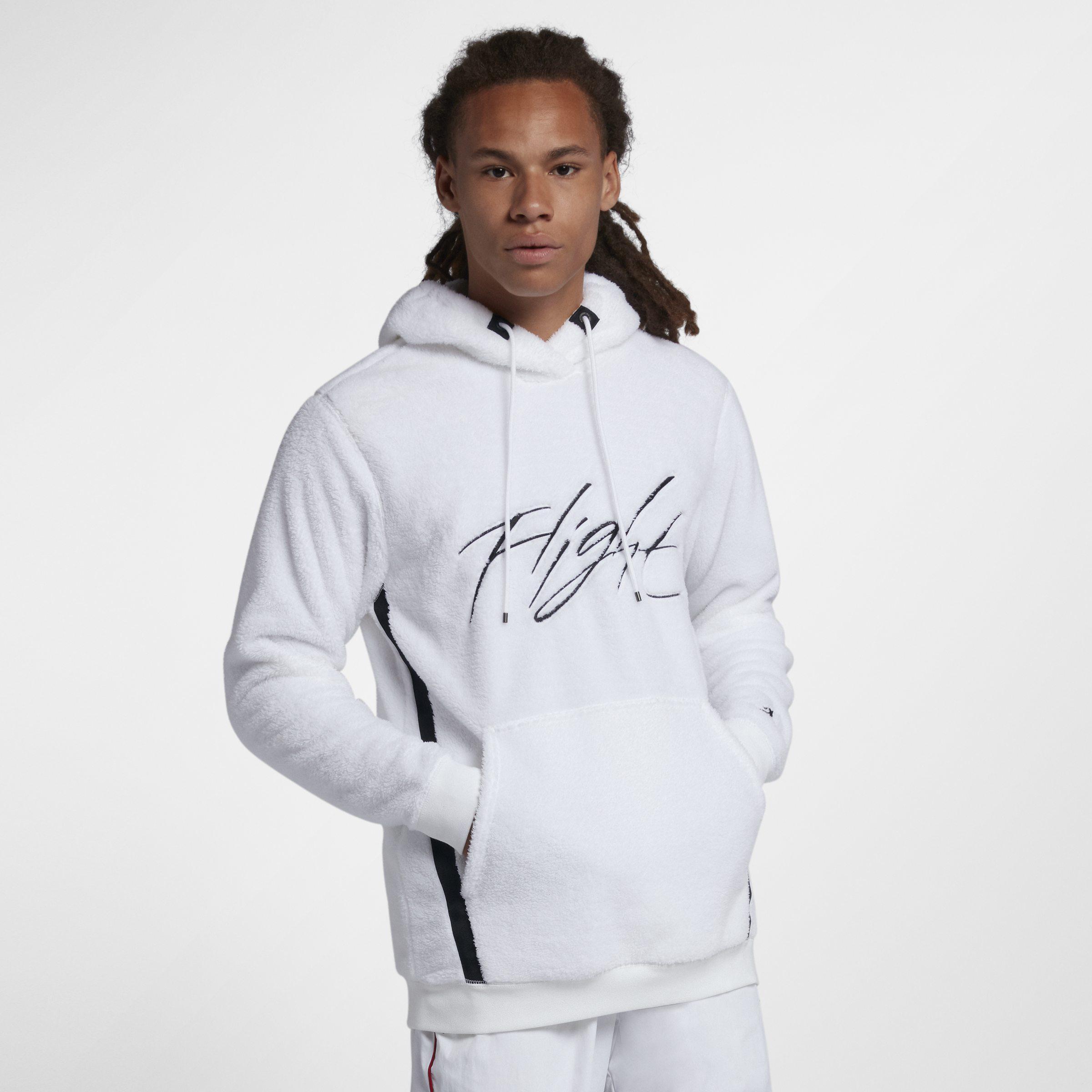 9633c14a218c Nike Jordan Sportswear Wings Of Flight Sherpa Pullover Hoodie in ...