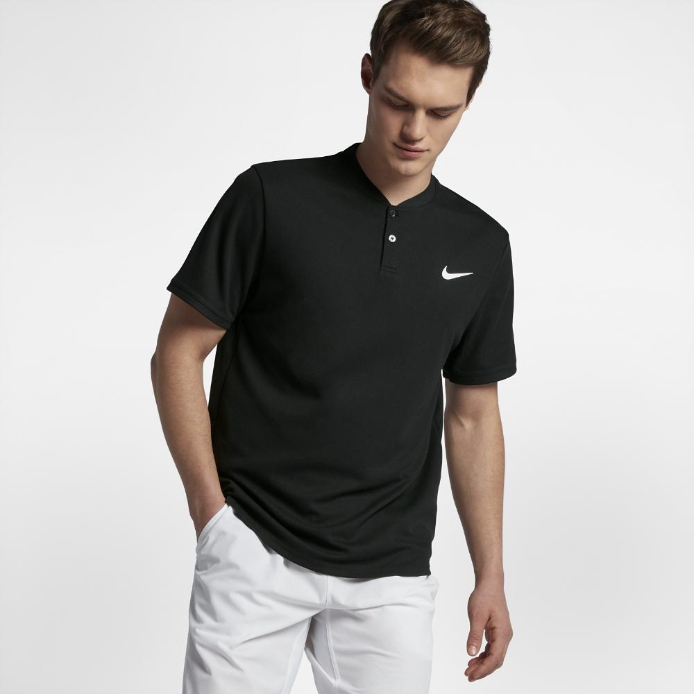 5ec0fce238d6 Lyst - Nike Court Dri-fit Advantage Men s Tennis Polo Shirt in Black ...
