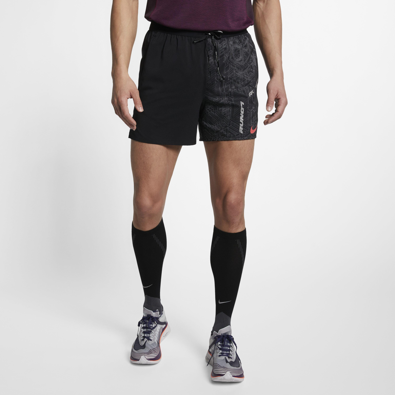 d19a9dc09a41 Nike - Black Flex Stride Running Shorts for Men - Lyst. View fullscreen