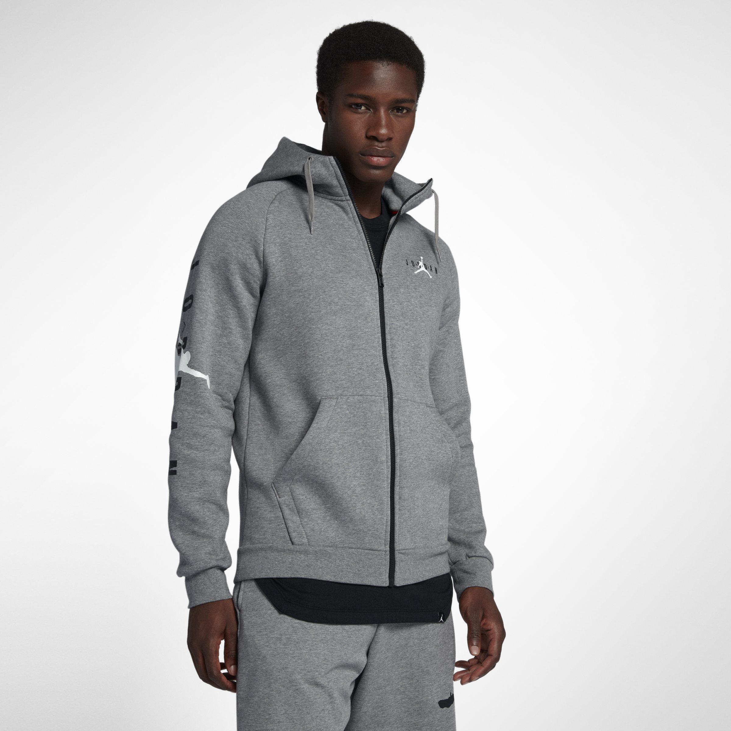 quality design d65d4 60ca0 Nike Jordan Jumpman Air Fleece Full-zip Hoodie in Gray for Men - Lyst