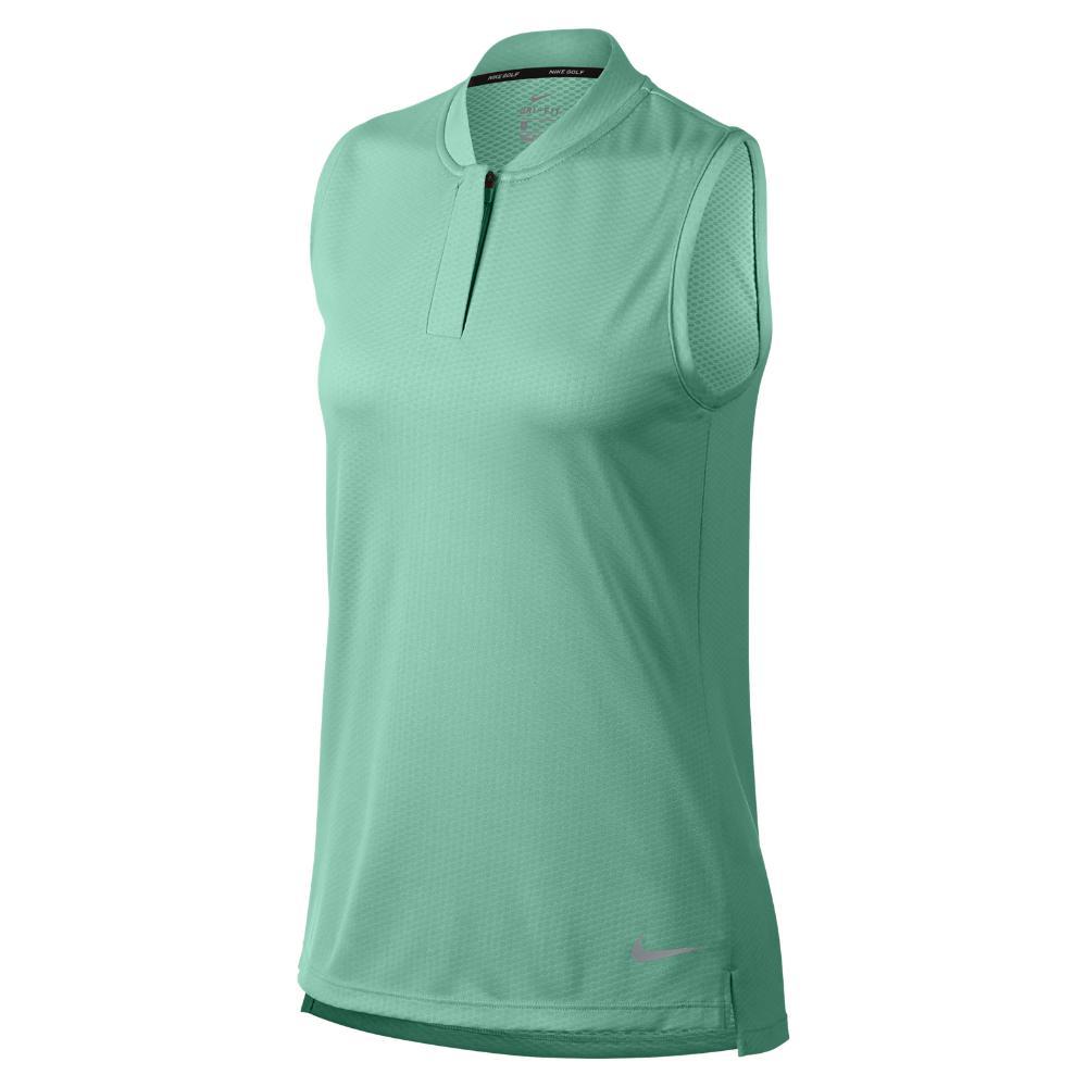 a91cdfa3e8fb9 Lyst - Nike Dri-fit Women s Sleeveless Golf Polo Shirt in Green ...