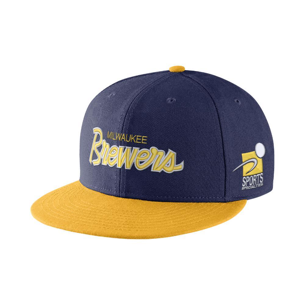 c427c7a3938 ... hot nike. mens pro sport specialties mlb brewers adjustable hat d2271  50ec3