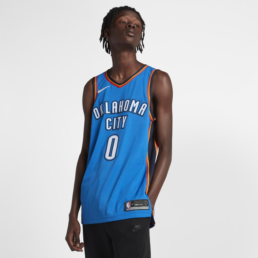 44f7c96fb Nike. Blue Russell Westbrook Icon Edition Authentic Jersey (oklahoma City  Thunder) Men s Nba Connected Jersey