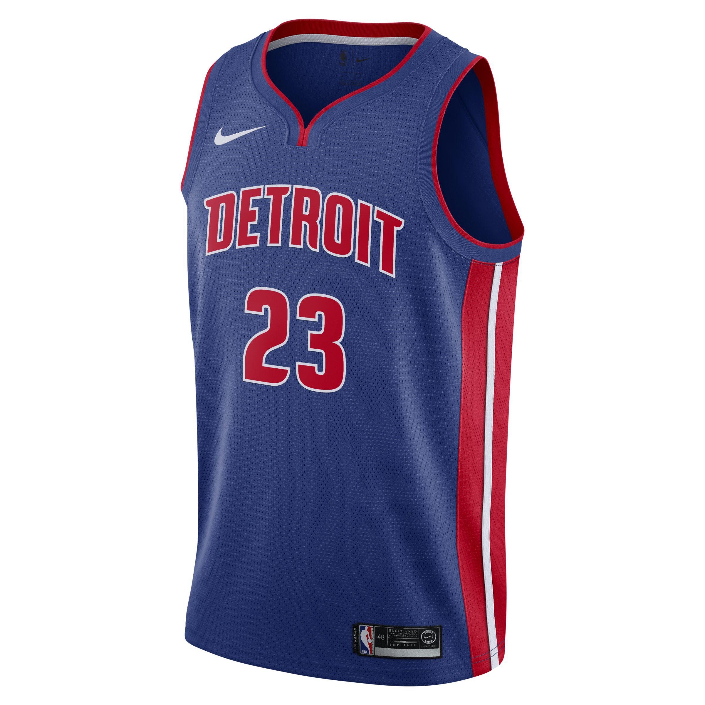 6290c9c54a1c Nike. Men s Blue Blake Griffin Icon Edition Swingman (detroit Pistons) Nba  Connected Jersey