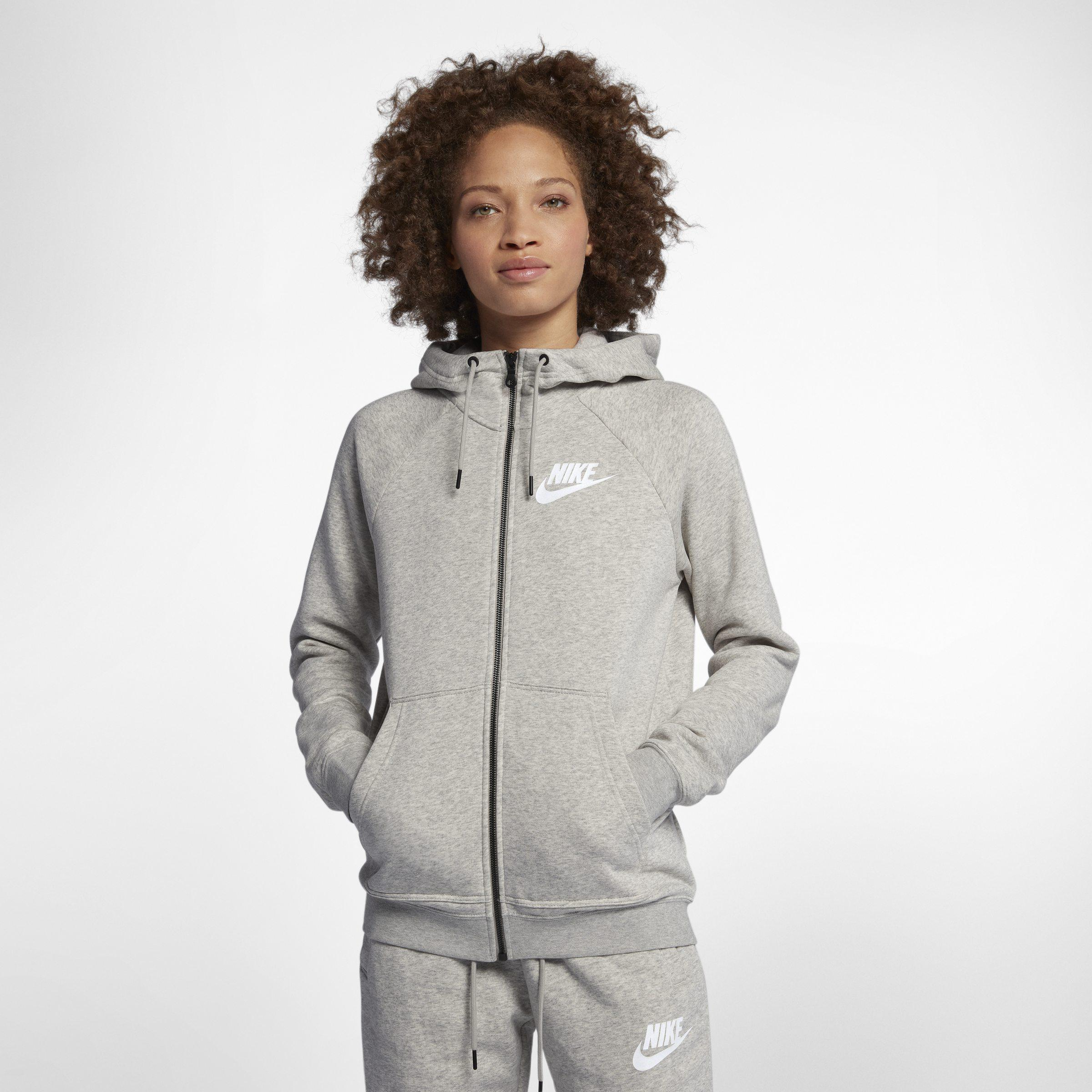 502fb05d54c4 Nike Sportswear Rally Full-zip Hoodie in Gray - Lyst