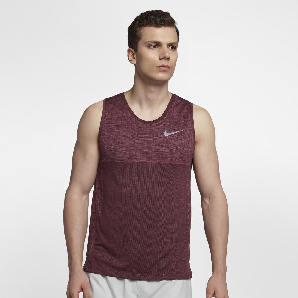 550d89c8fd9726 Lyst - Nike Dri-fit Medalist Men s Running Tank in Purple for Men