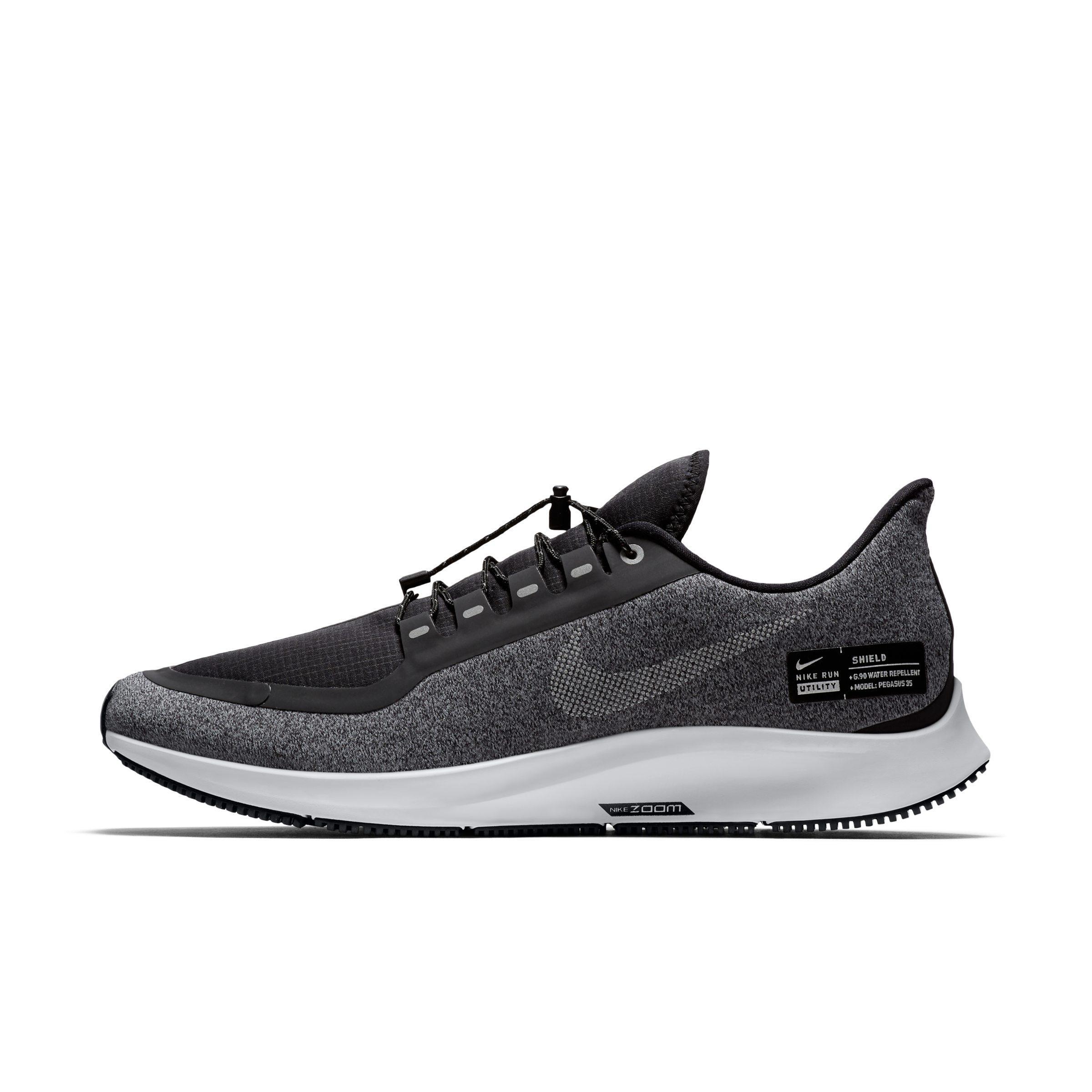4a0dc209b0b59 Nike Air Zoom Pegasus 35 Shield Running Shoe in Black for Men - Lyst