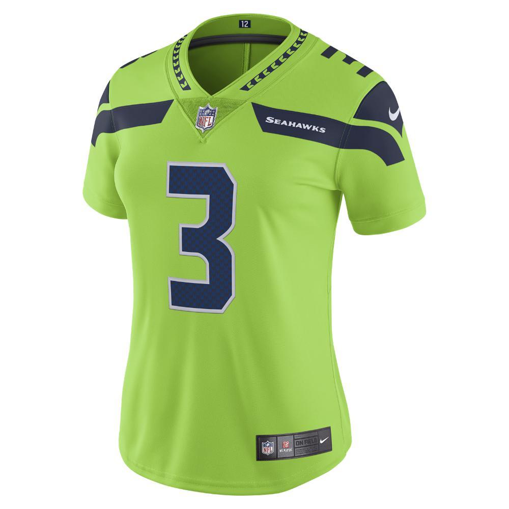 Nike - Green Nfl Seattle Seahawks Color Rush Limited (russell Wilson)  Women s Football Jersey. View fullscreen 03d3dfb7d