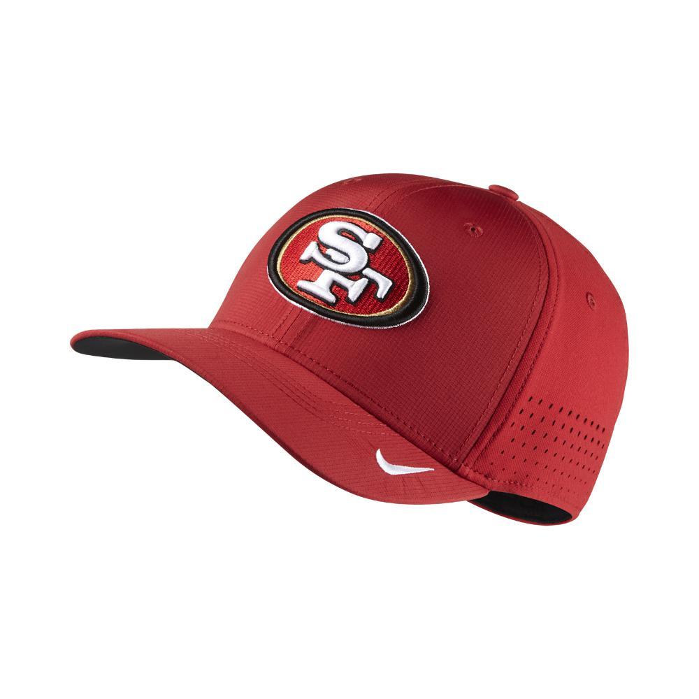 b1fd70cad67 ... sweden nike. mens red swoosh flex nfl 49ers fitted hat 5c1e7 5991b