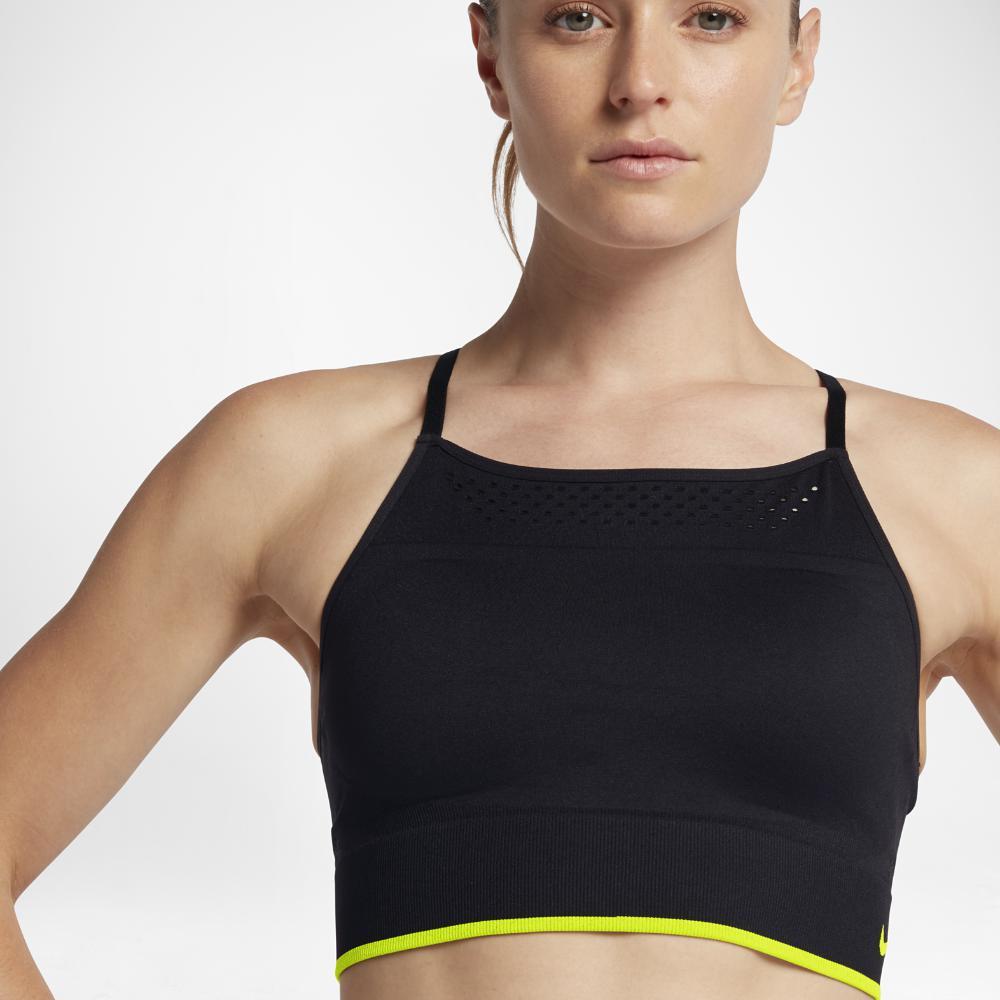 77ff38f0cd902 Lyst - Nike Seamless Women s Light Support Sports Bralette in Black