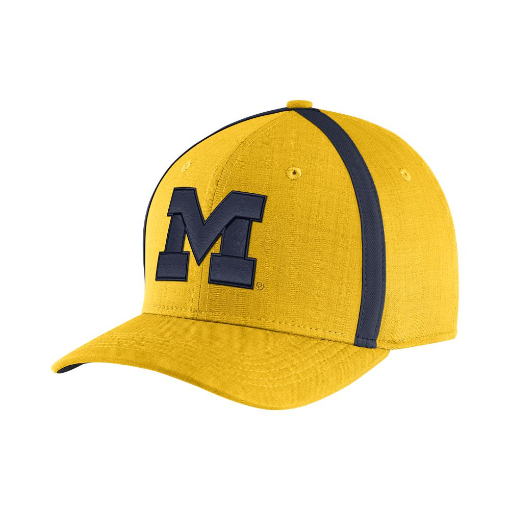 buy popular 005f5 e2cb4 Nike College Aerobill Sideline Coaches (michigan) Adjustable Hat, By ...
