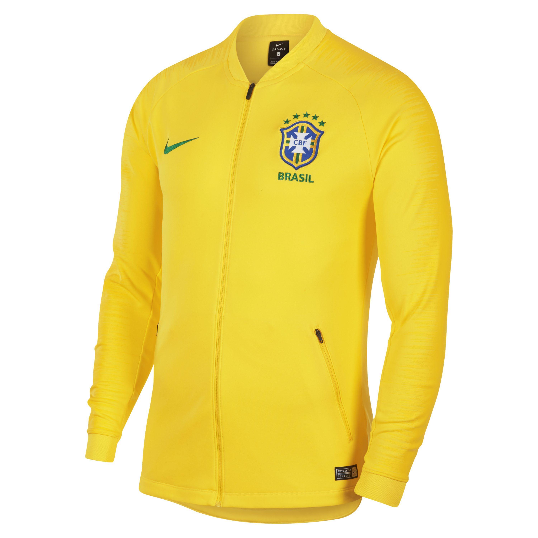 be75043bf Nike Brazil Cbf Anthem Football Jacket in Metallic for Men - Lyst