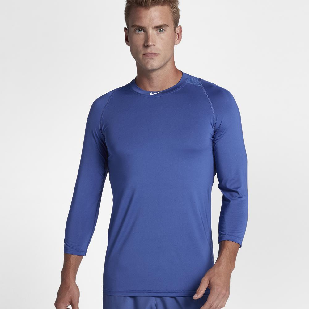 a46c3d5c92fe Lyst - Nike Pro Men s 3 4 Sleeve Baseball Top in Blue for Men