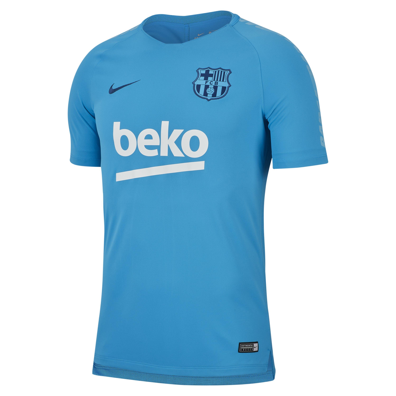 d74167552 Nike Fc Barcelona Breathe Squad Football Top in Blue for Men - Lyst