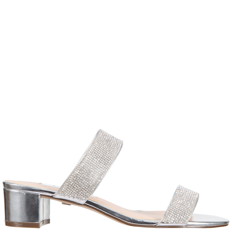 Nina Georgea Metallic Block Heel Dress Sandals d42Kl6W