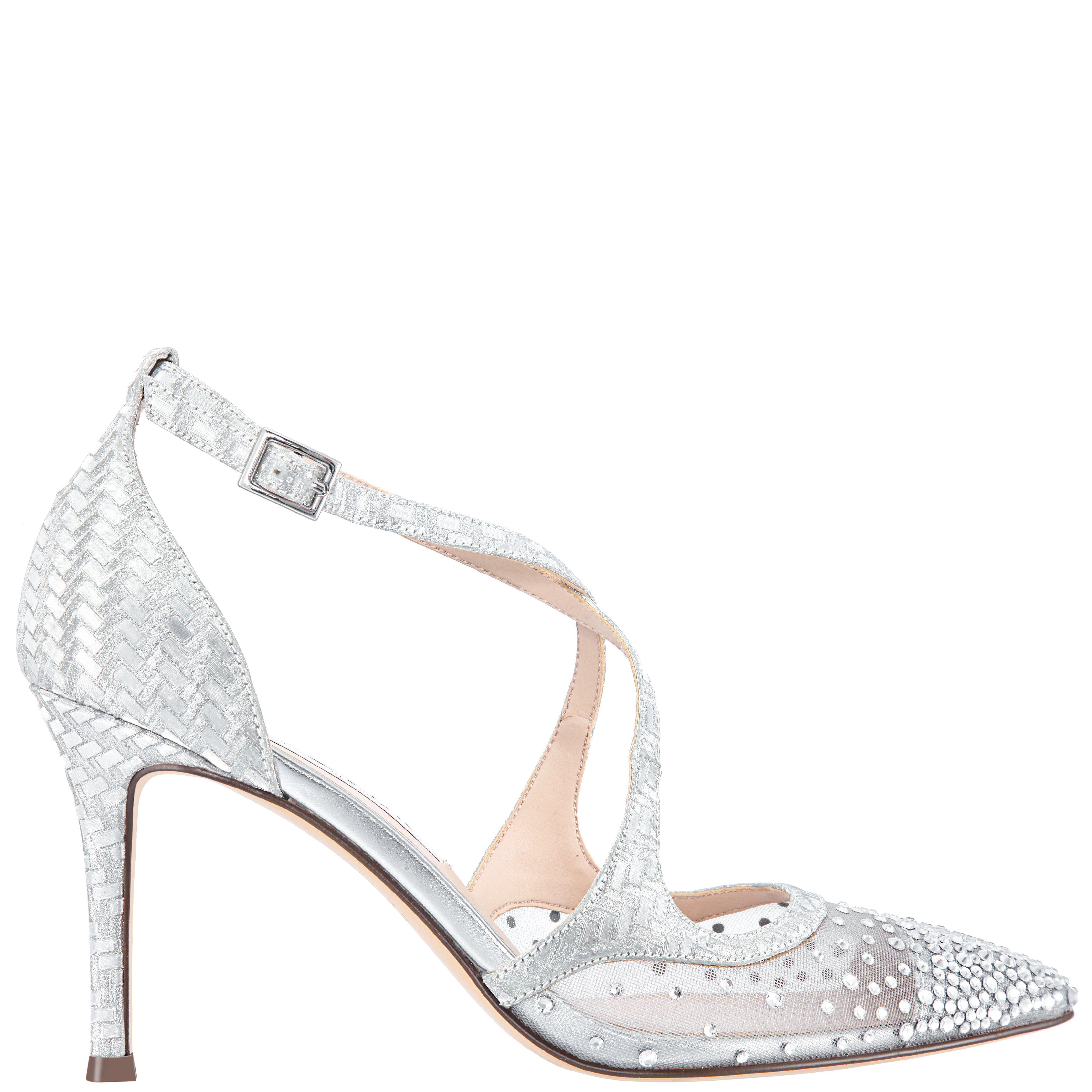 a03143a25ad Lyst - Nina Conetta-silver Glitter Weave in Metallic