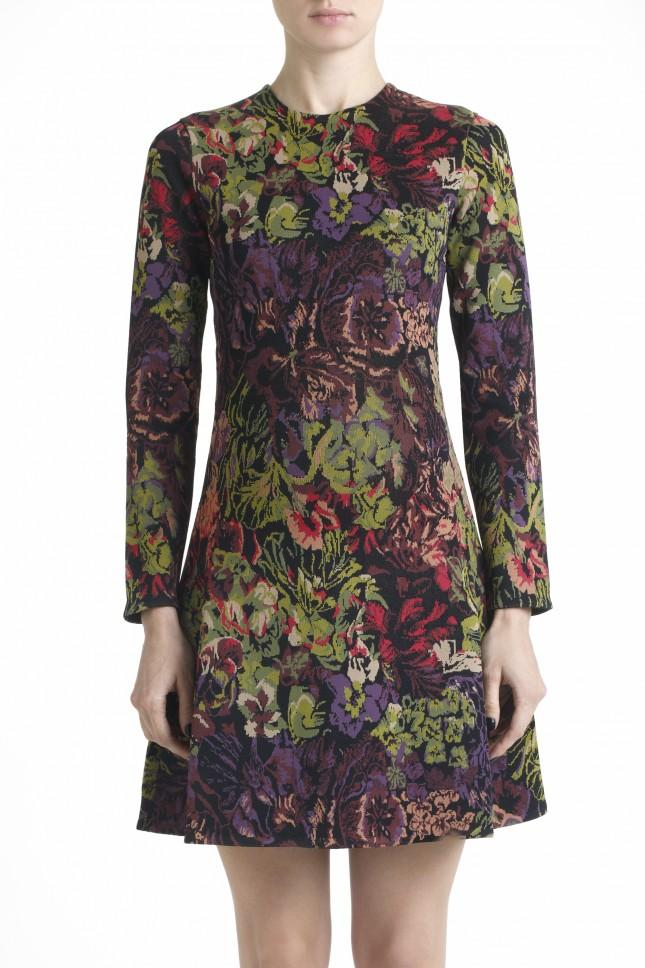 Valentino Jacquard Knit Floral Dress Lyst