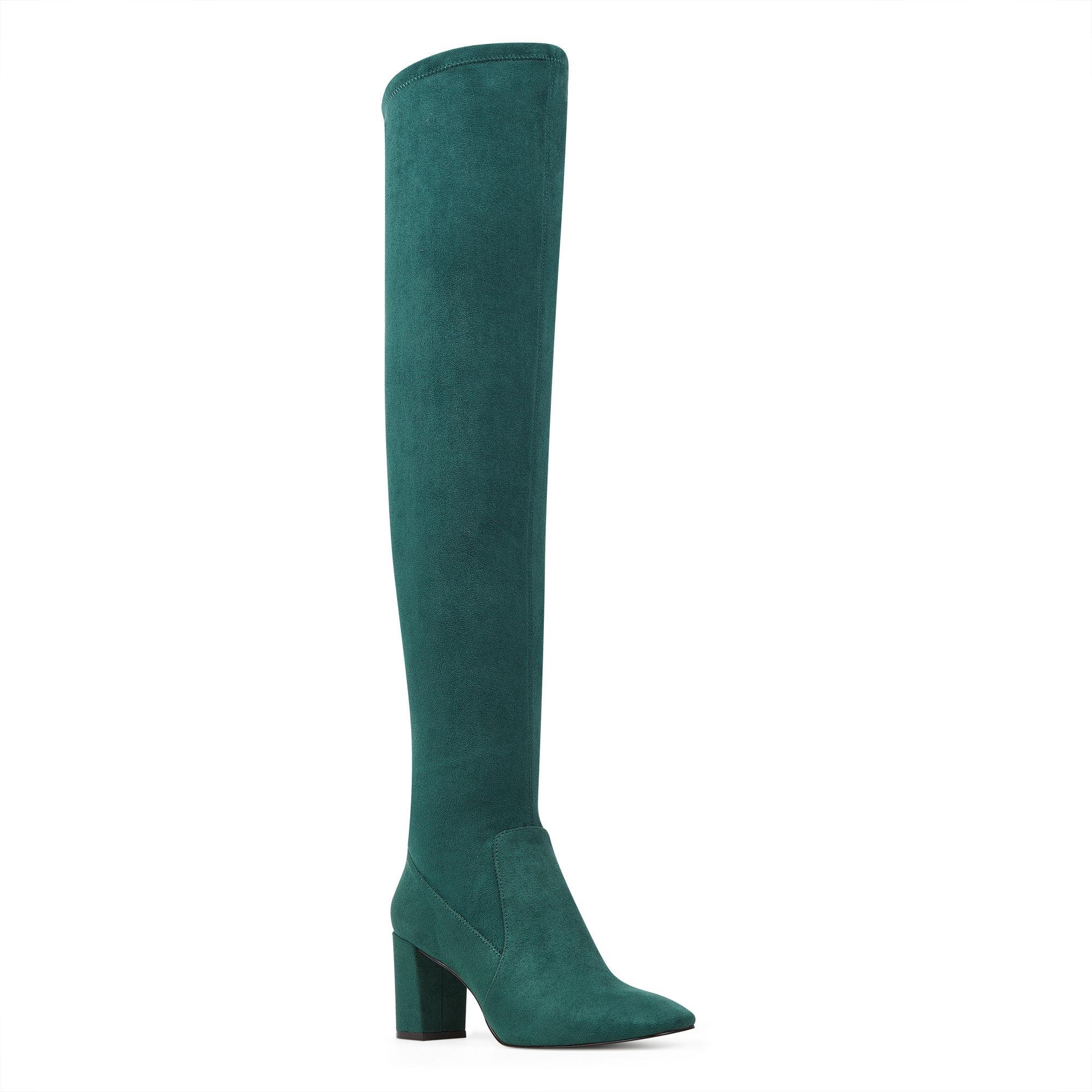 37a8039b7a0 Lyst - Nine West Xperian Over The Knee Boot in Green