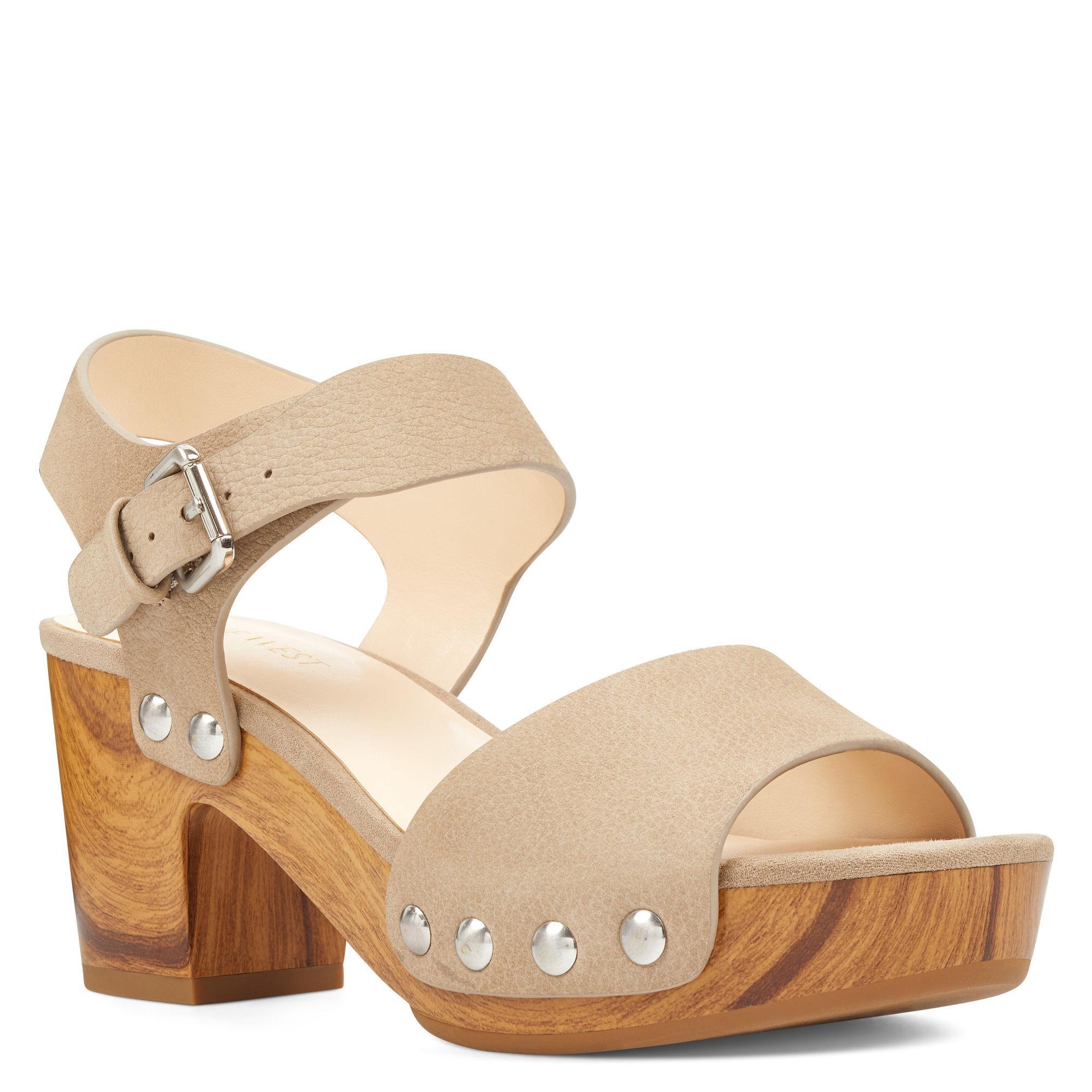6539ef021d07 Lyst - Nine West Cecilia Platform Sandals