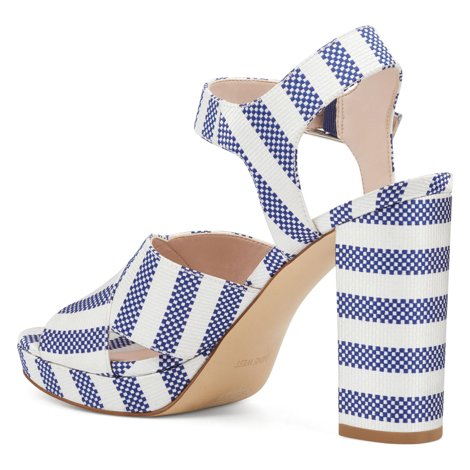 c6a8c54967f7 Lyst - Nine West Jimar Ankle-strap Platform Sandals in Blue