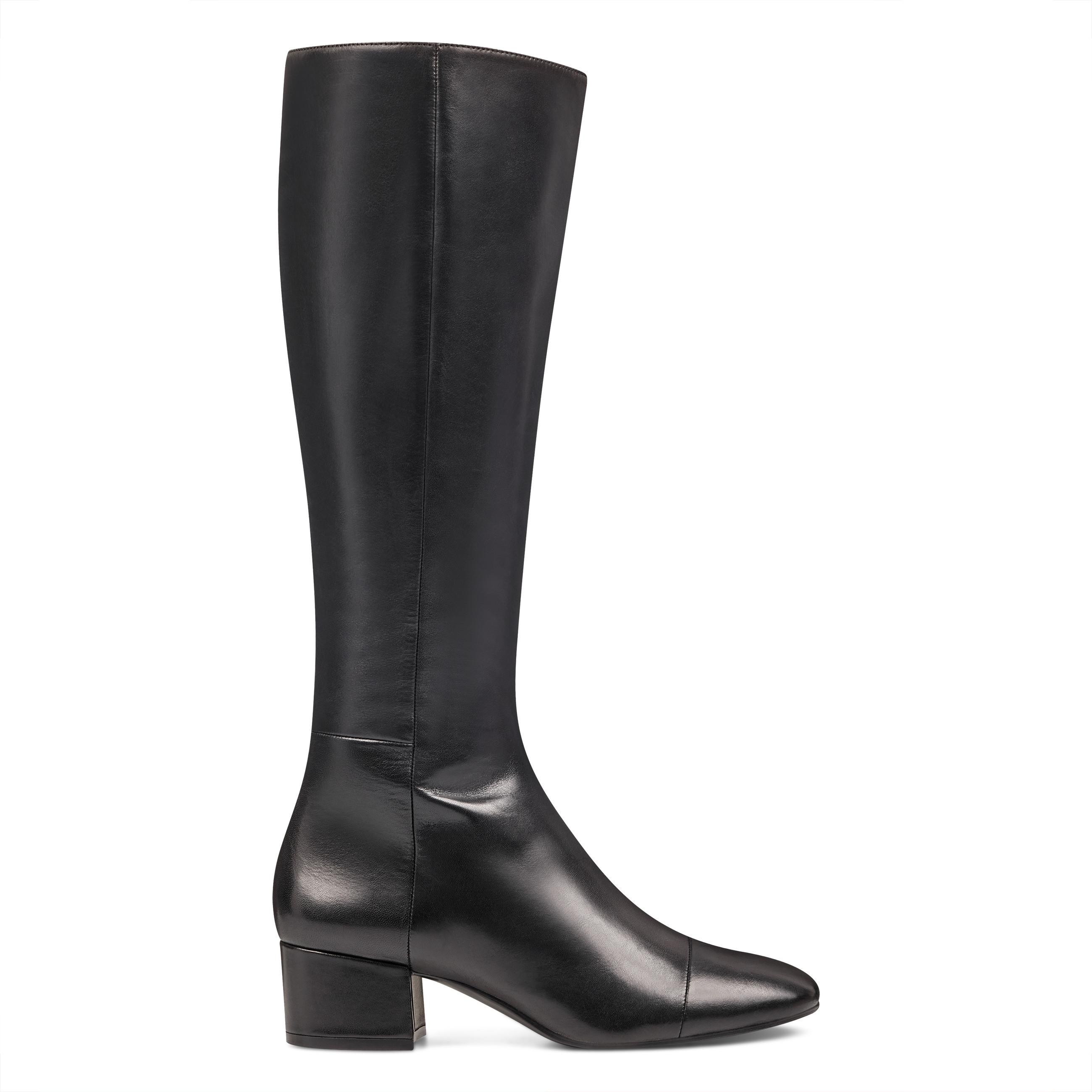 f648d771ee4e Lyst - Nine West Lestife Round Toe Boots in Black - Save 37%
