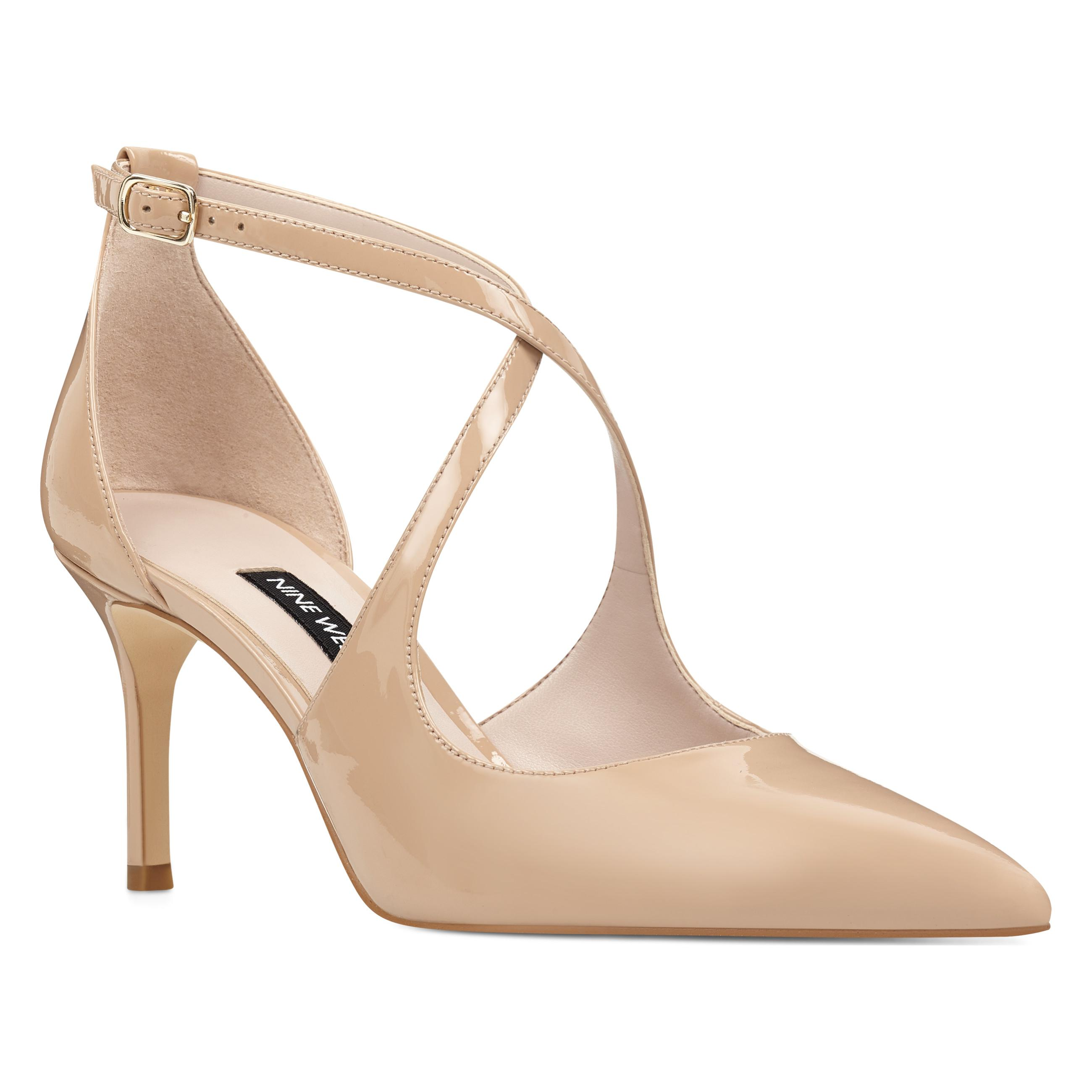 5d5d09b0f7 Nine West Micaela Strappy Pumps in Natural - Lyst