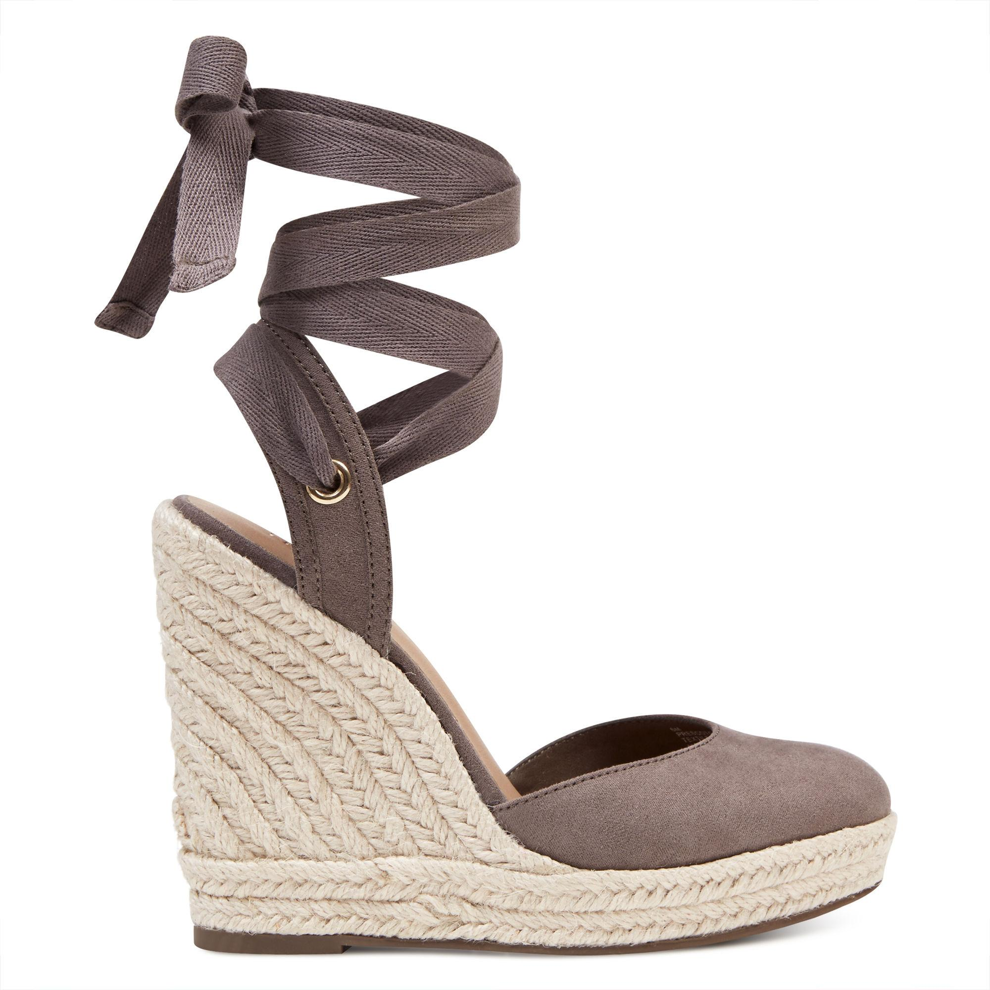 3050854b24e1 Lyst - Nine West Prescot Espadrille Wedges in Gray