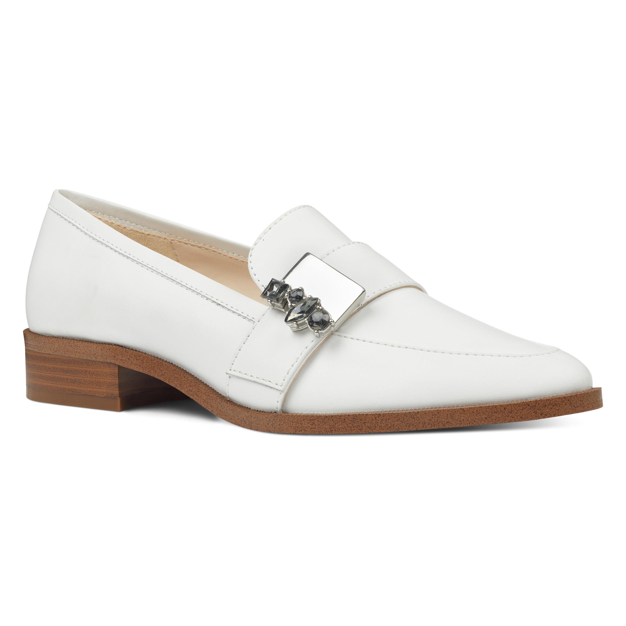 80a0c08b1a9 Lyst nine west westlake embellished loafers in white jpg 2600x2600 Nine west  vita oxford