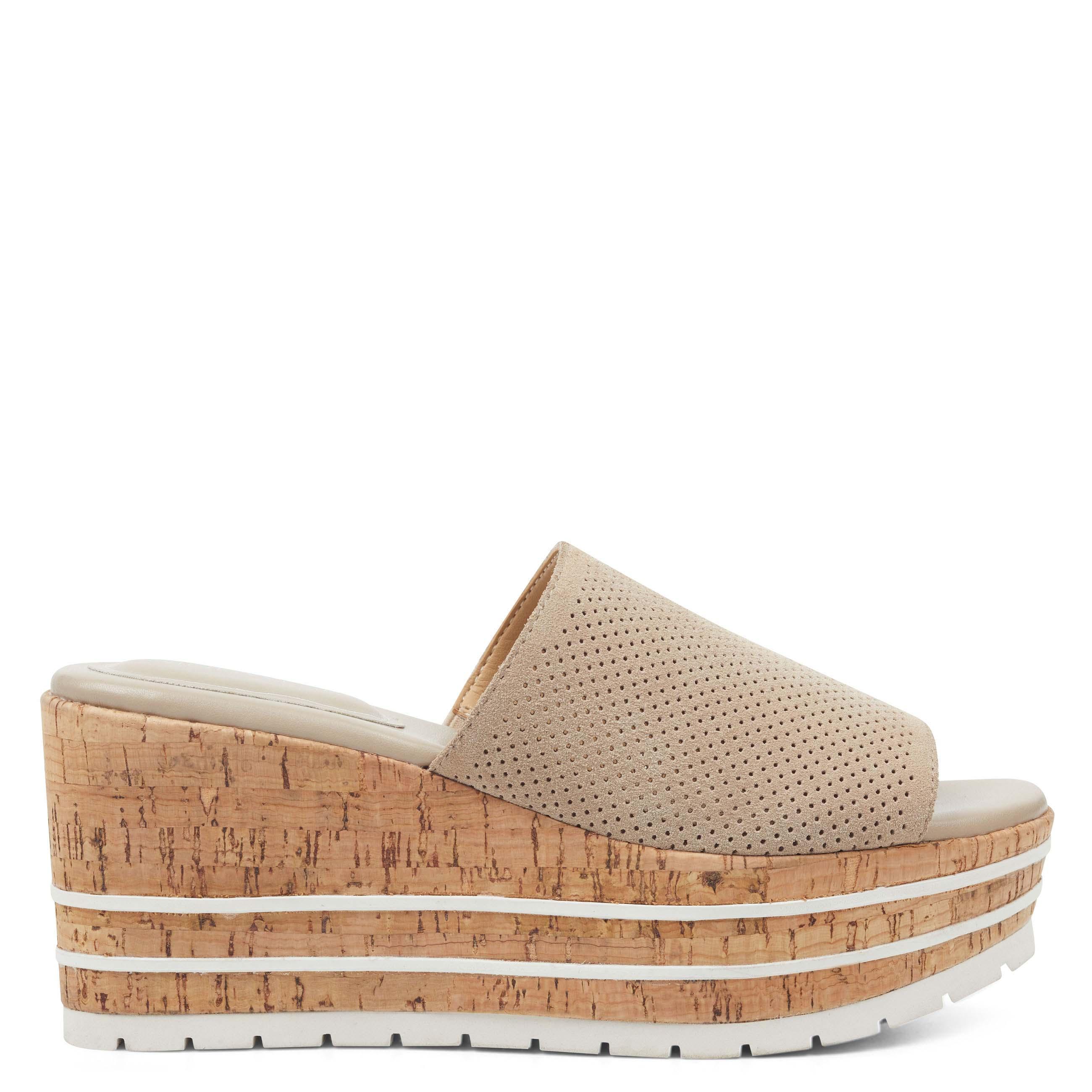 3da91633120b Lyst - Nine West Reagan Platform Sandals in Natural
