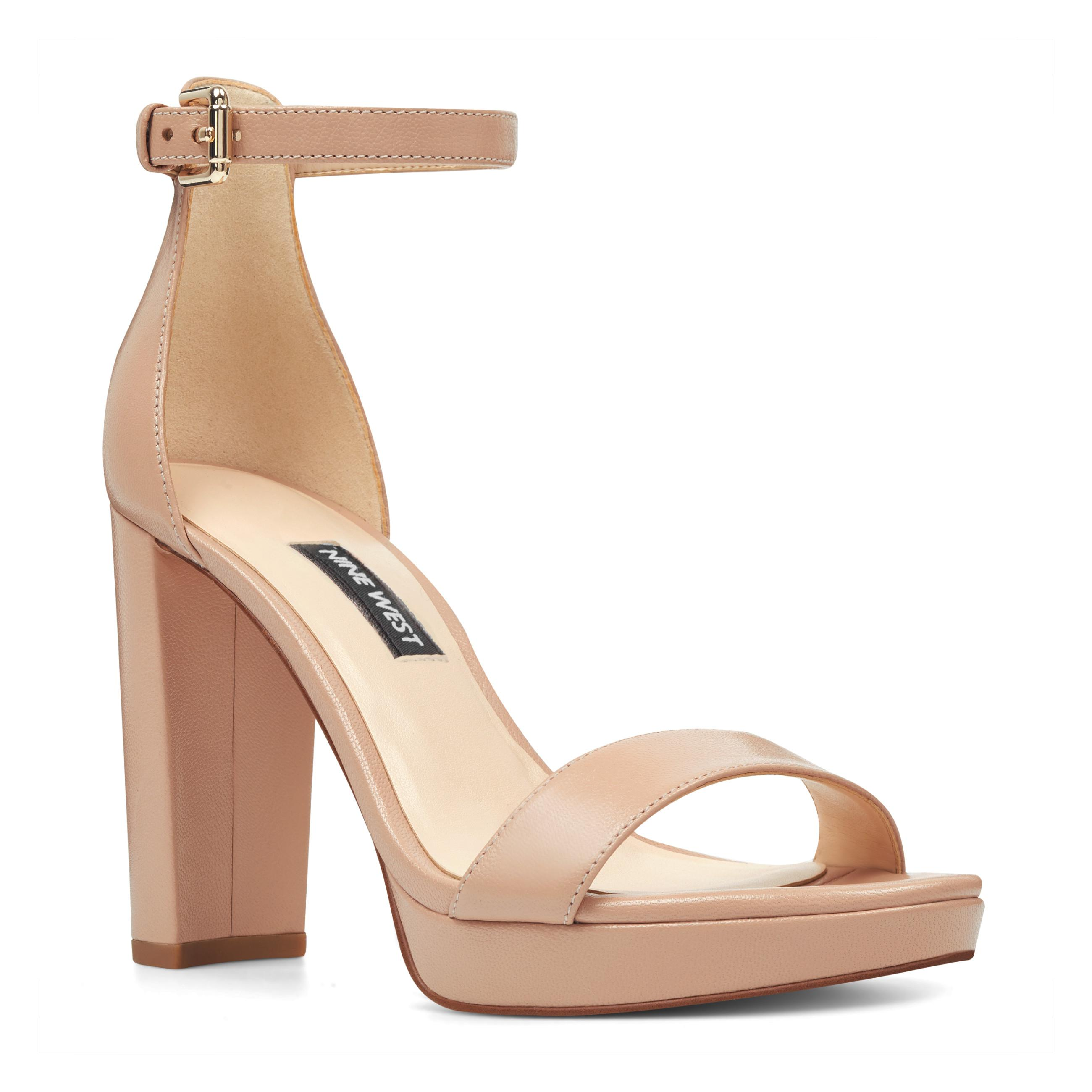 abbbaf42734 Nine West - Natural Dempsey Platform Sandals - Lyst. View fullscreen