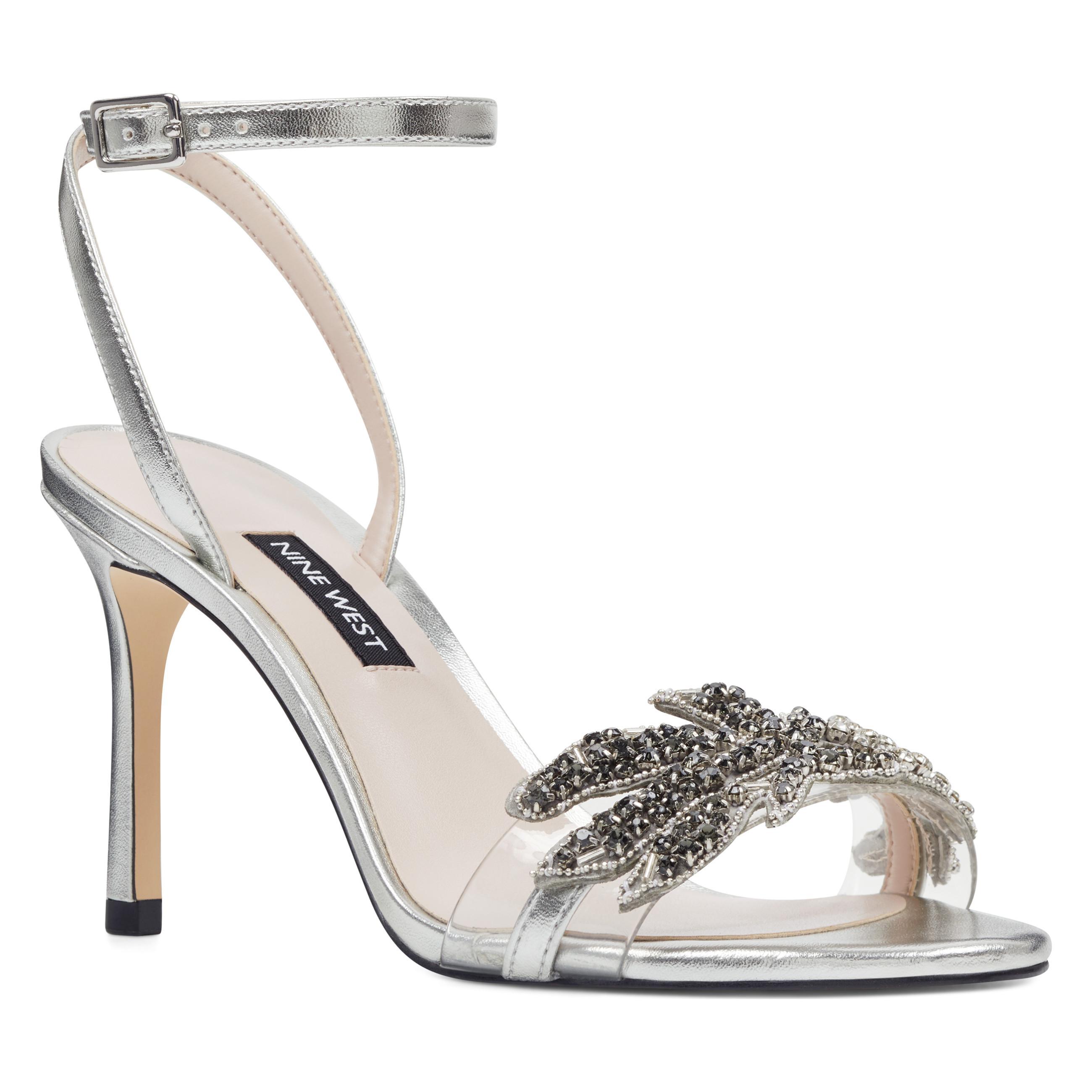 5929a5518635a9 Nine West - Metallic Jamielee Embellished Sandals - Lyst. View fullscreen